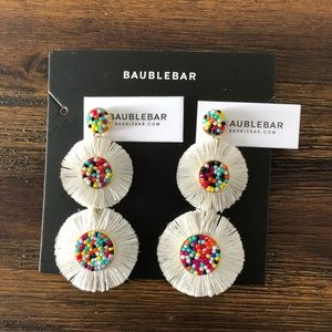 BAUBLEBAR Multi-color Fringe Drop Earrings